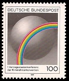 100 Pf Briefmarke: Erste Vertragsstaatenkonferenz der Klimarahmenkonvention