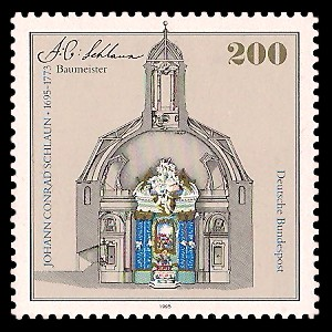 200 Pf Briefmarke: 300. Geburtstag Johann Conrad Schlaun