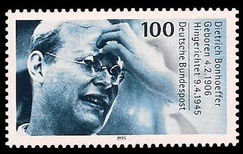 100 Pf Briefmarke: 50. Todestag Dietrich Bonhoeffer