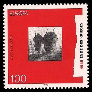 100 Pf Briefmarke: Europamarke 1995, Ende des Krieges