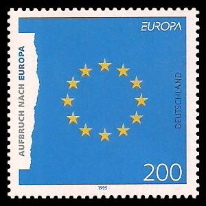 200 Pf Briefmarke: Europamarke 1995, Aufbruch nach Europa