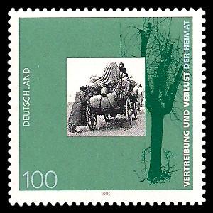 100 Pf Briefmarke: 50. Jahrestag der Beendigung des Zweiten Weltkrieges
