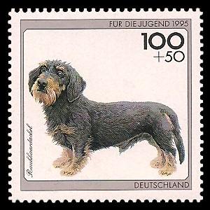 100 + 50 Pf Briefmarke: Für die Jugend 1995, Hunde