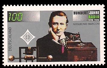 100 Pf Briefmarke: 100 Jahre Radio