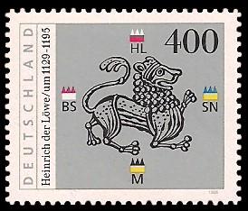 400 Pf Briefmarke: 800. Todestag Heinrich der Löwe