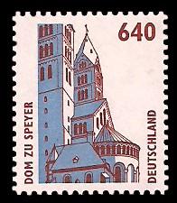 640 Pf Briefmarke: Serie Sehenswürdigkeiten