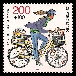200 + 100 Pf Briefmarke: Tag der Briefmarke