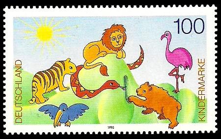 100 Pf Briefmarke: Für uns Kinder, Kindermarke
