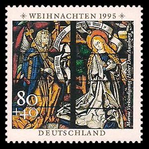 80 + 40 Pf Briefmarke: Weihnachtsmarke 1995