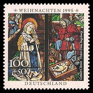 100 + 50 Pf Briefmarke: Weihnachtsmarke 1995