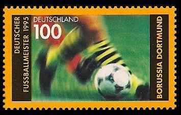 100 Pf Briefmarke: Deutscher Fußballmeister 1995