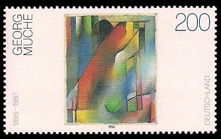 200 Pf Briefmarke: Moderne Gemälde