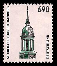 690 Pf Briefmarke: Serie Sehenswürdigkeiten