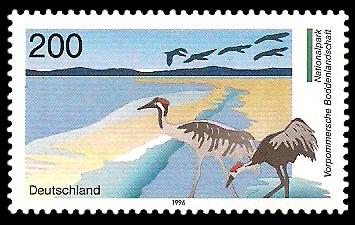 200 Pf Briefmarke: Nationalpark Vorpommersche Boddenlandschaft
