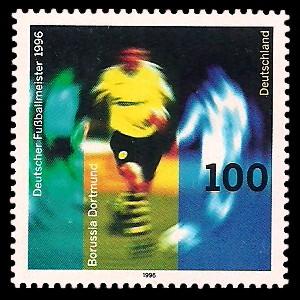 100 Pf Briefmarke: Deutscher Fußballmeister 1996