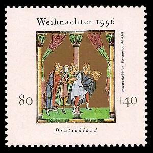 80 + 40 Pf Briefmarke: Weihnachtsmarke 1996