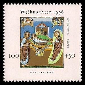 100 + 50 Pf Briefmarke: Weihnachtsmarke 1996