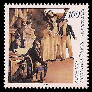 100 Pf Briefmarke: 200. Geburtstag Franz Schubert