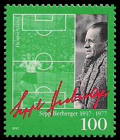 100 Pf Briefmarke: 100. Geburtstag Sepp Herberger
