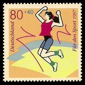 80 + 40 Pf Briefmarke: Für den Sport 1997, Spaßsportarten