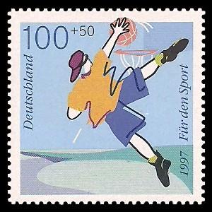 100 + 50 Pf Briefmarke: Für den Sport 1997, Spaßsportarten