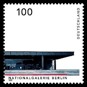 100 Pf Briefmarke: Deutsche Architektur nach 1945