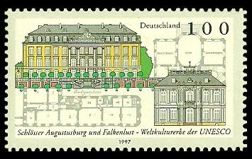 100 Pf Briefmarke: Weltkulturerbe der UNESCO, Schlösser