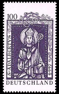 100 Pf Briefmarke: 1000. Todestag Hl. Adalbert