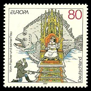 80 Pf Briefmarke: Europamarke 1997, Märchen