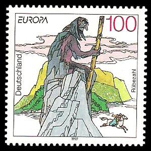 100 Pf Briefmarke: Europamarke 1997, Sagen