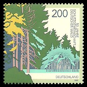 200 Pf Briefmarke: 50 Jahre Schutzgemeinschaft Deutscher Wald
