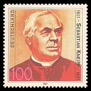 100 Pf Briefmarke: 100. Todestag Sebastian Kneipp