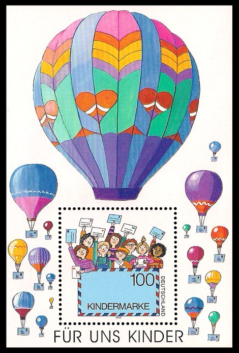 Briefmarke: Blockausgabe: Für uns Kinder, Kindermarke