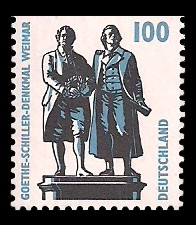100 Pf Briefmarke: Serie Sehenswürdigkeiten