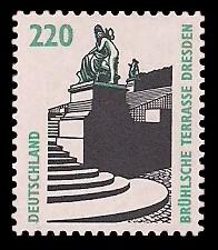 220 Pf Briefmarke: Serie Sehenswürdigkeiten