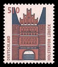 510 Pf Briefmarke: Serie Sehenswürdigkeiten