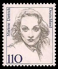 110 Pf Briefmarke: Frauen der deutschen Geschichte
