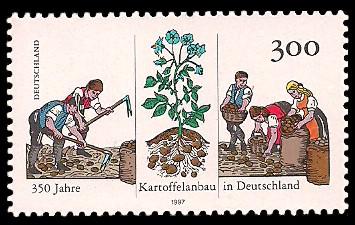 300 Pf Briefmarke: 350 Jahre Kartoffelanbau in Deutschland