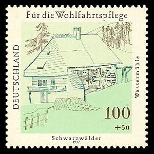 100 + 50 Pf Briefmarke: Wohlfahrtsmarke 1997, Mühlen