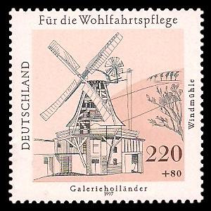 220 + 80 Pf Briefmarke: Wohlfahrtsmarke 1997, Mühlen