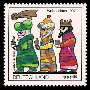 100 + 50 Pf Briefmarke: Weihnachtsmarke 1997