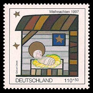 110 + 50 Pf Briefmarke: Weihnachtsmarke 1997