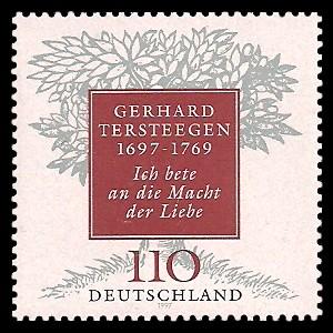 110 Pf Briefmarke: 300. Geburtstag Gerhard Tersteegen