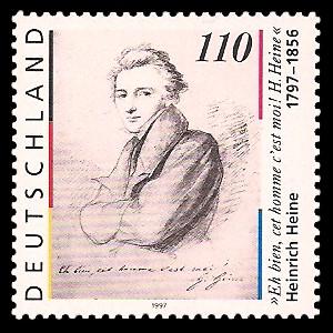 110 Pf Briefmarke: 200. Geburtstag Heinrich Heine