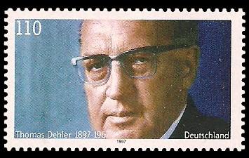 110 Pf Briefmarke: 100. Geburtstag Thomas Dehler