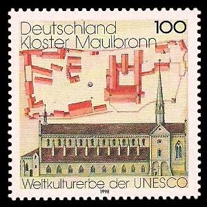 100 Pf Briefmarke: Kloster Maulbronn