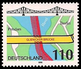 110 Pf Briefmarke: Glienicker Brücke
