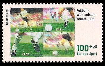 100 + 50 Pf Briefmarke: Für den Sport 1998