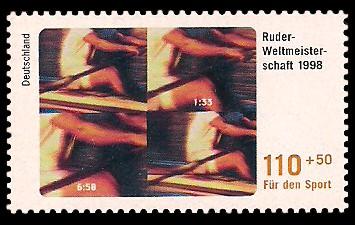 110 + 50 Pf Briefmarke: Für den Sport 1998