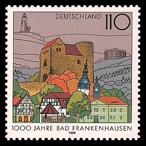 110 Pf Briefmarke: 1000 Jahre Bad Frankenhausen